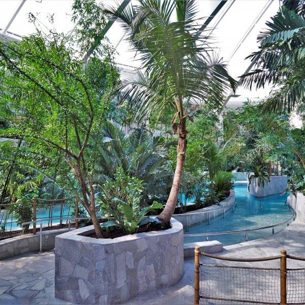 Brasil Green Flagstones naast het zwembad